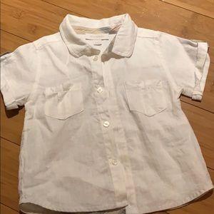 Burberry baby Boy linen shirt